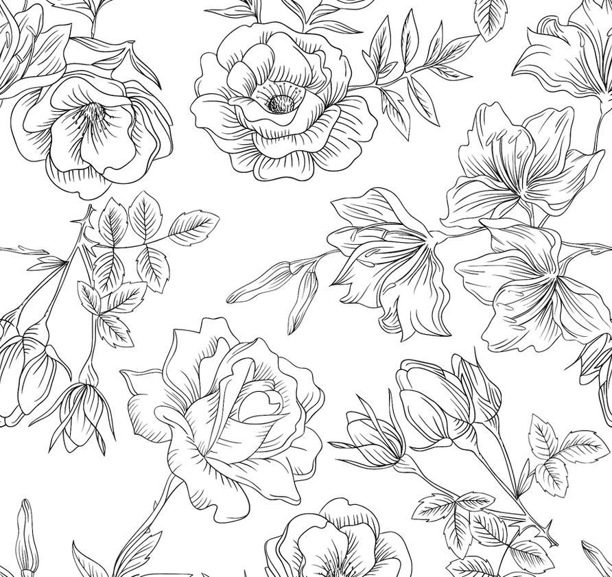 Floral - No Background. BW.png