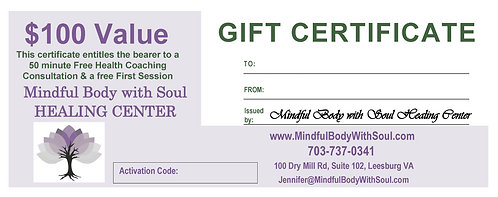 Health Coaching Gift Certificate