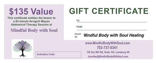 Mayan Massage Gift Certificate