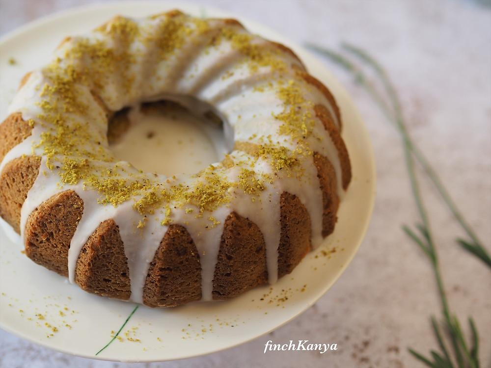 Pistachio Bundt cake from scratch