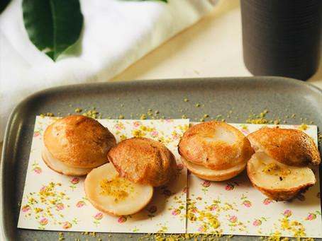 Pistachio Thai coconut pancakes ( Kanom Krok)