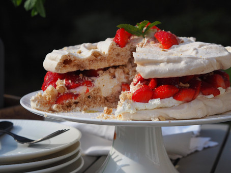 Hazelnut Meringue Gateau