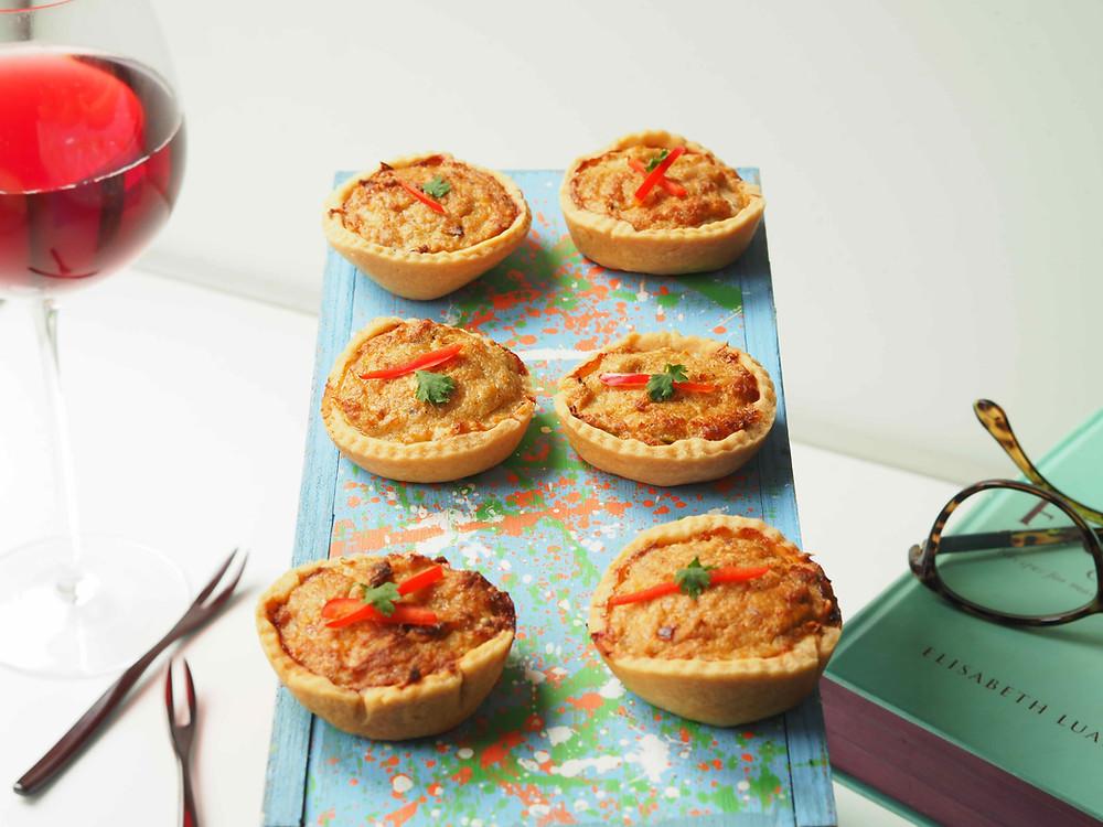 Thai crab cakes in little tarts