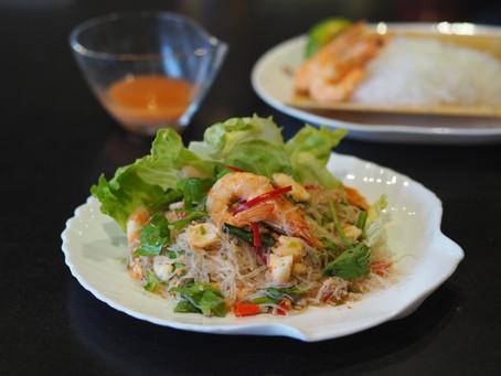 Thai Spicy Vermicelli Noodle Salad ( Yam Woon Sen)
