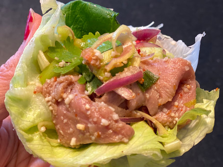 Thai Spicy Beef Salad (Nue Nam Tok)