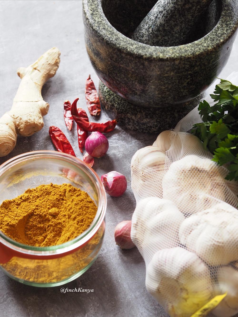 Thai Yellow Curry paste ingredients