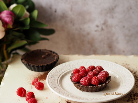 Chocolate &Raspberry Tart