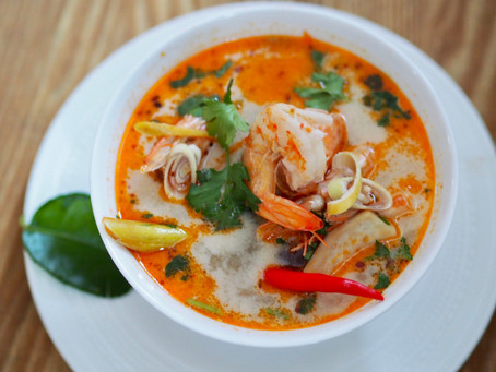 Tom Yam Goong ( Thai spicy prawn soup)