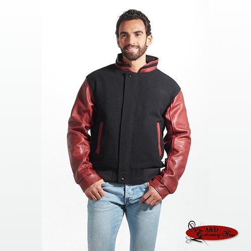 Graduate - Men's Melton and Leather Jacket