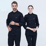Black-Long-Sleeve-Master-Cook-Work-Unifo