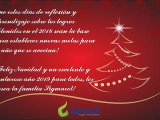 ¡Feliz Navidad y un Venturoso Año 2019 para todos!