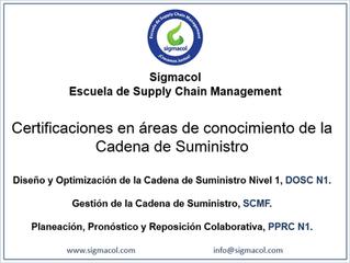 Certificaciones en Español - Áreas de Conocimiento de la Cadena de Suministro.