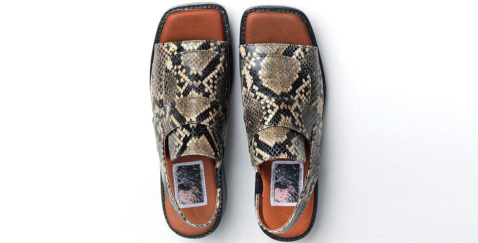 Oslo Slingback Sandals (Python)