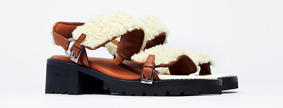 RC2 shearling sandals