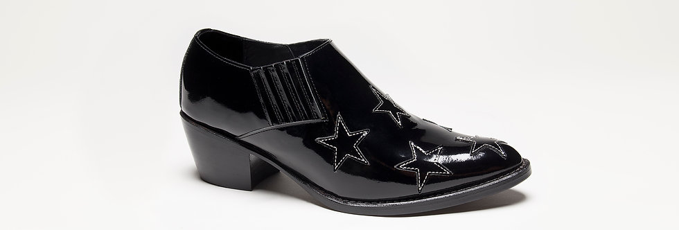 Stella Low Boot ( Black patent )