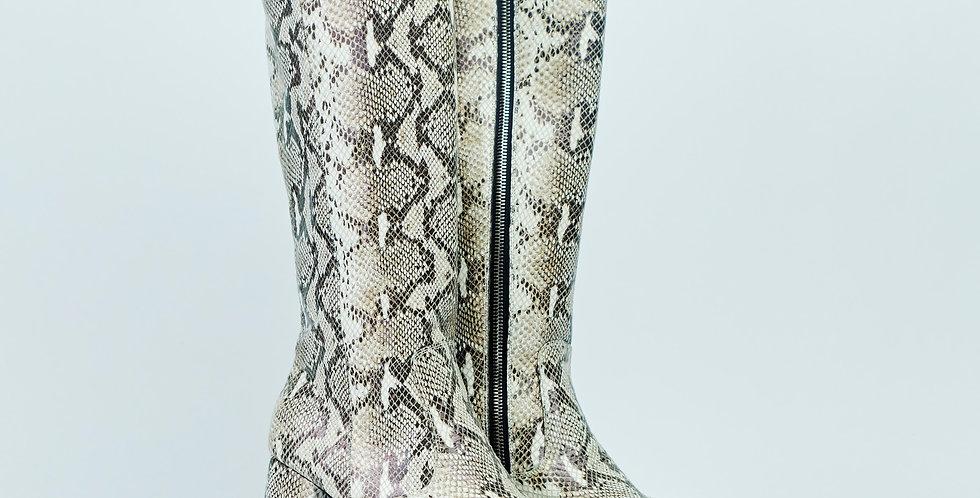 Gene Platform Leather Knee Boots