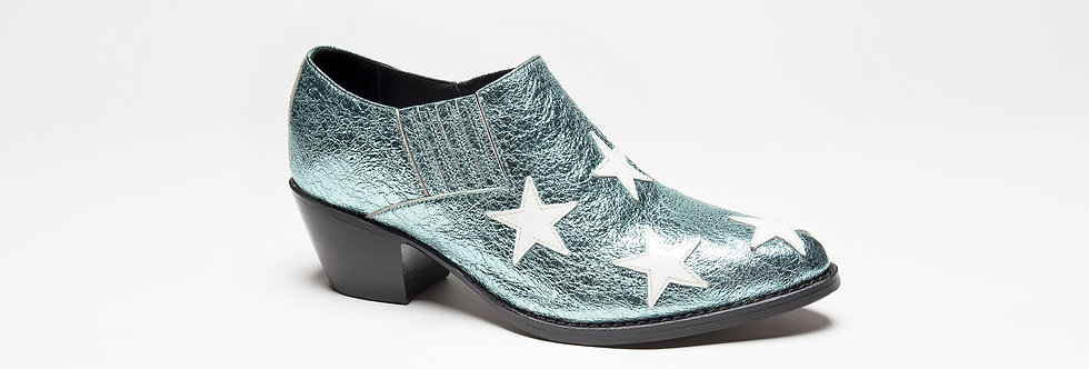 Stella Low boots ( blue metallic )