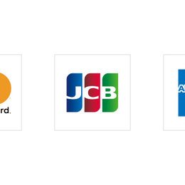 JCB、American Express、Diners に対応しました。