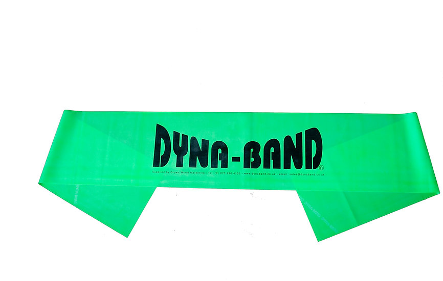Pack of 10 Green Dyna-Band for aerobic instructors / Personal Trainers
