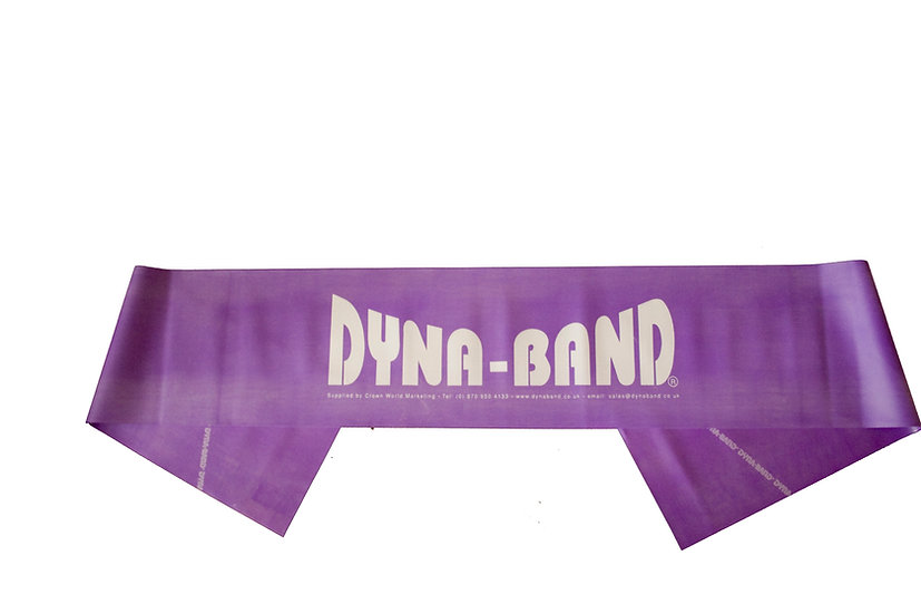 Pack of 10 Purple Dyna-Band for aerobic instructors / Personal Trainers