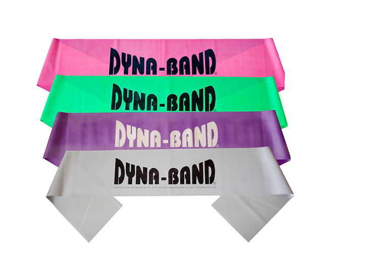 10 pack of mixed strength Dyne-Bands for aerobic instructors & personal trainers