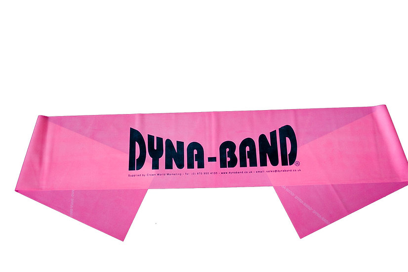 Pack of 10 Pink Dyna-Band for aerobic instructors / Personal Trainers