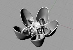 3D render - Milkweed Flower