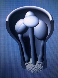 3D Illustration Primrose Flower