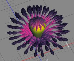 3D render - Poppy Flower