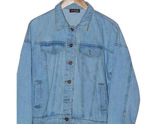 54b9ef588395 Blue Oversized Denim Jacket