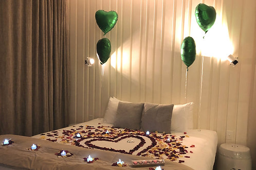 Rose Petals, Candlelight and Balloons