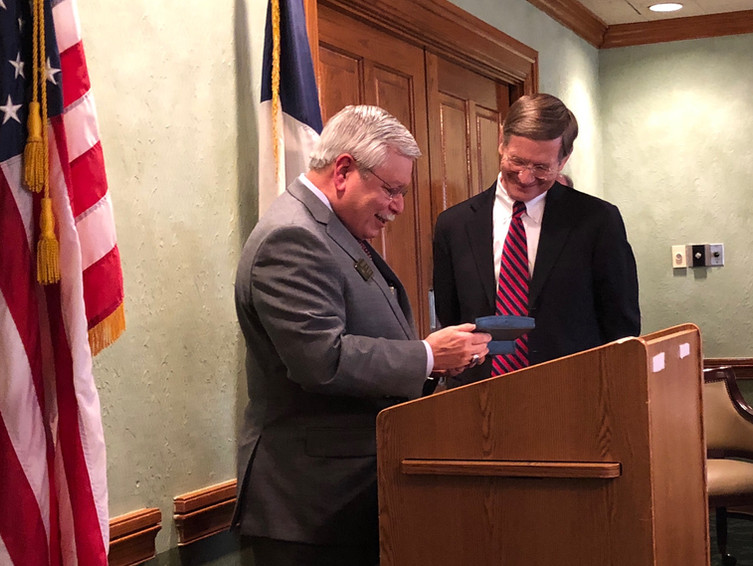 Presenting Pachyderm Pen to Rep Smith