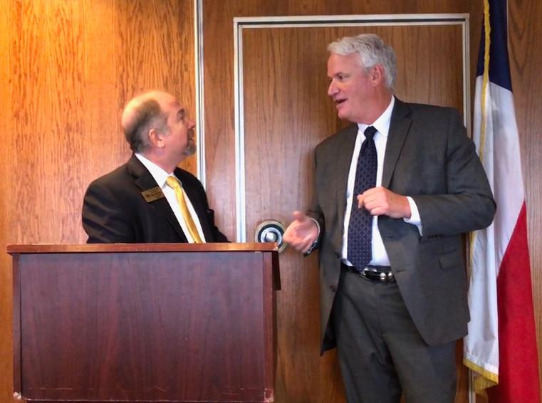 State Rep Lyle Larson with Bob Prado 2017