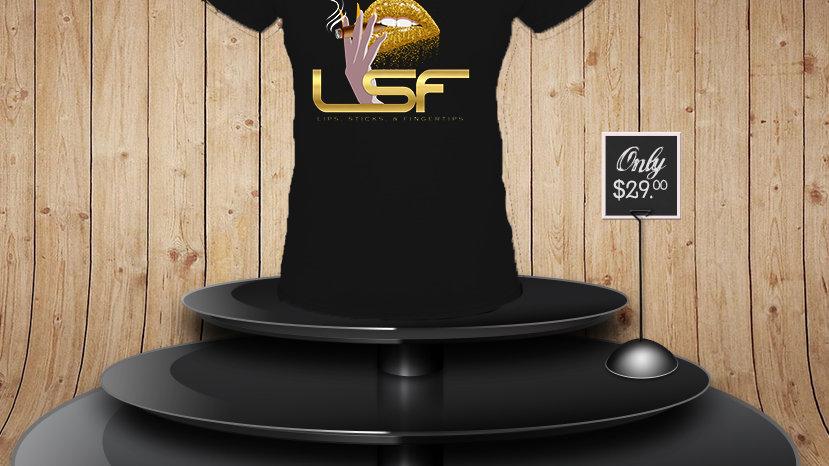 Lips Sticks & Fingertips Full Logo Tshirt