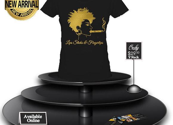 LSF Afrocentric T-Shirt (Black/Gold Imprint)
