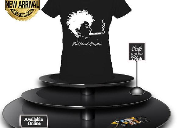 LSF Afrocentric T-Shirt (Black/White Imprint)
