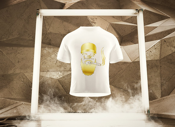 Lost in Smoke Forever Tshirt Gold - White