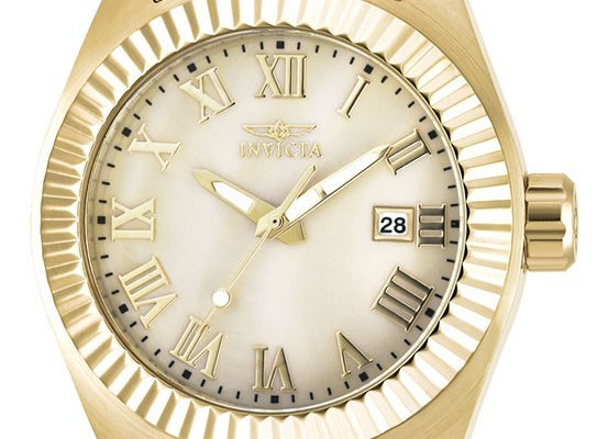 INVICTA ANGEL QUARTZ WATCH - GOLD CASE WITH GOLD TONE STAINLESS STEEL BAND