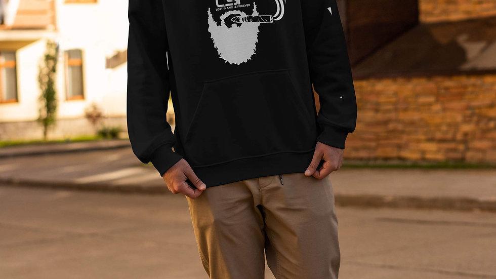 Male Hoodie - White Beard
