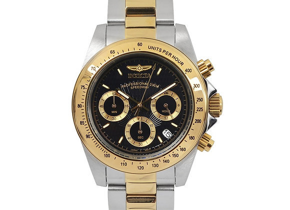 INVICTA SPEEDWAY QUARTZ WATCH - GOLD, STAINLESS STEEL CASE WITH STEEL, GOLD TONE