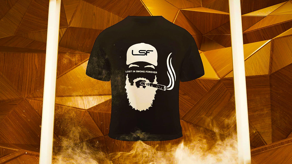 LSF - Lost in Smoke Forever T shirt Black and White