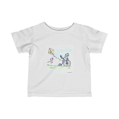 Raccoon & Mouse Infant Jersey Tee