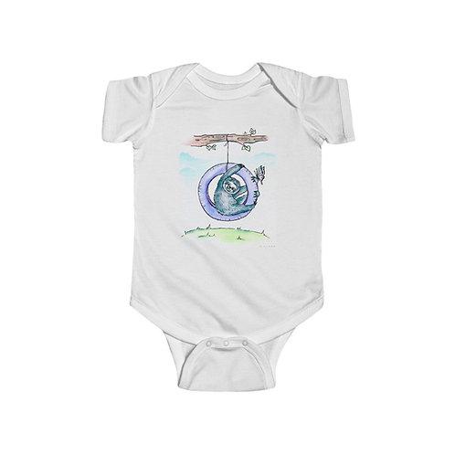 Sloth & Butterfly Infant Jersey Bodysuit