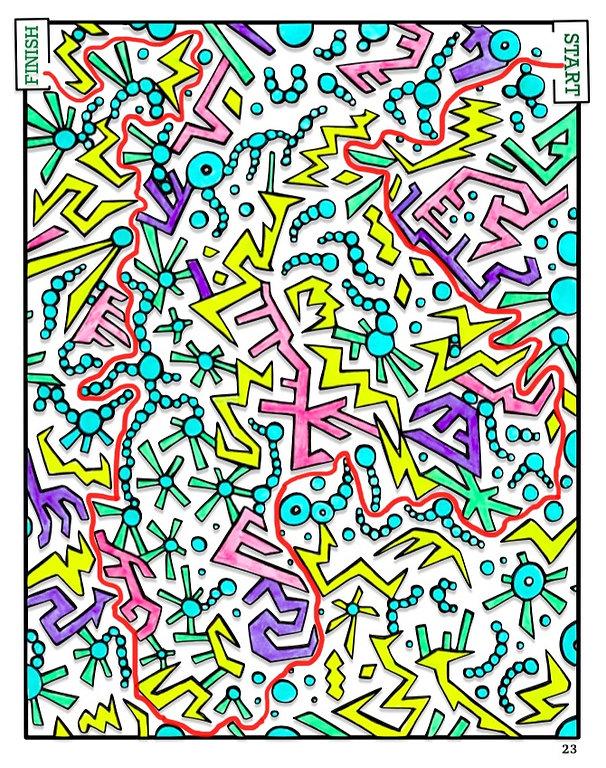 Shape Maze Solution