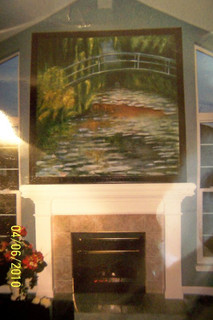 Oil on Canvas, Monet interpretation__7ft