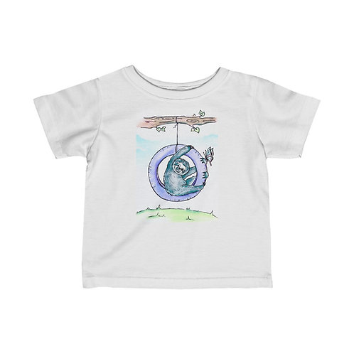 Sloth & Butterfly Infant Jersey Tee
