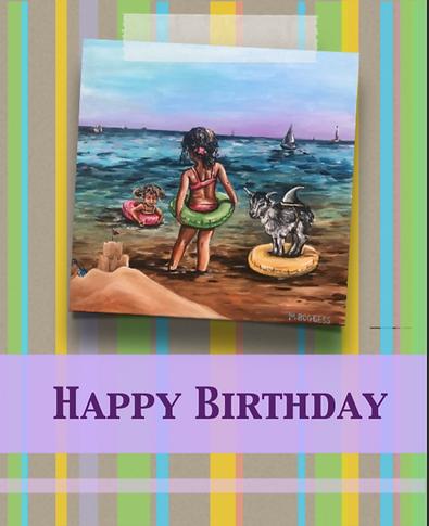 Happy Birthday - Blank