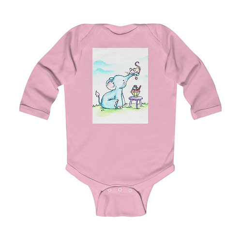 Elephant & Mouse Infant Long Sleeve Bodysuit