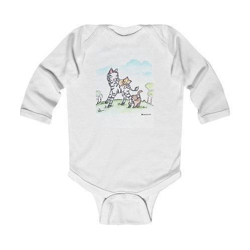 Zebra & Kittens Infant Long Sleeve Bodysuit