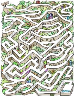 3D illustrated maze